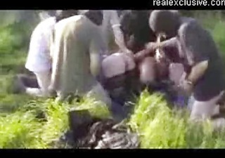 gangbang in nature with 10 d like to fuck and 4