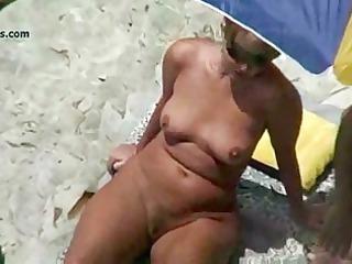 showed seaside older  voyeur 3some
