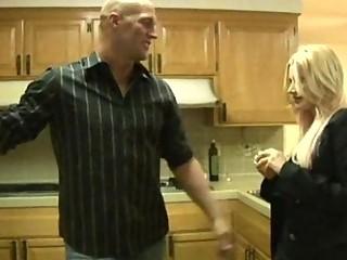 desperate blond woman obtain gangbanged