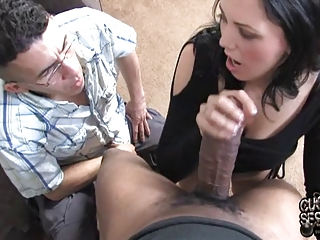 clean woman obtains large dark dick into front of