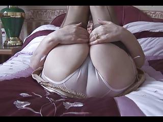 old inside her bikini and stockings