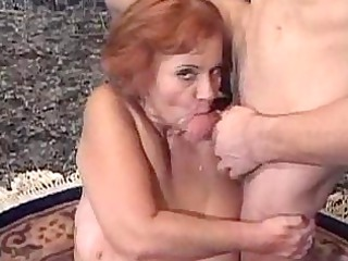 hairy old with large breast obtains a big hour