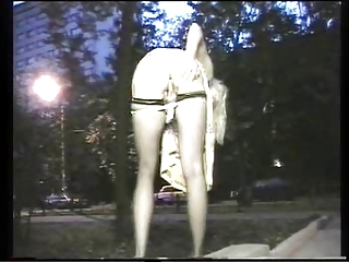 exhibitionist woman outside fisting