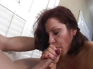 mature babe smoking fellatio
