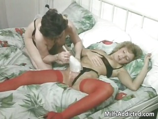 two mature sluts having homosexual woman porn