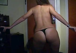 wife undresses