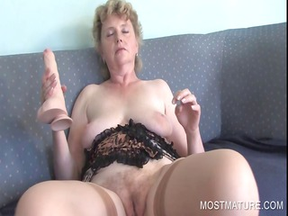 grownup dildoing with plastic cock