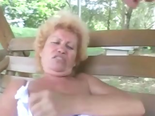 hairy old effie anal outdoor