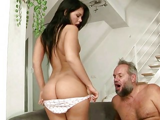 stunning amateur has porn with busty grandpa