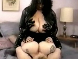 hugetitted bbw matures pleasing into leather and