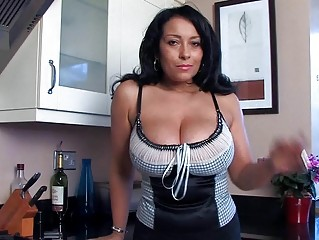 horny desperate momma teases with fish labium