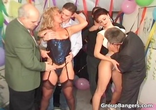 party orgy with ginger and golden-haired mother i
