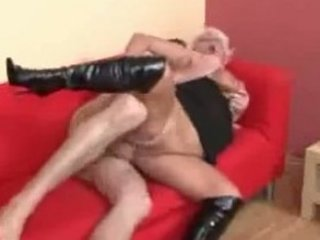 bleached euro elderly into highheeled galoshes