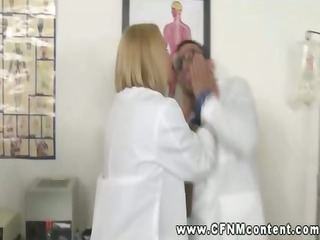 desperate nurses and busty doctor dominating