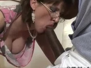 cougar brit femdom mixed cock sucking