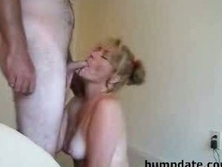 beautiful woman gives a lovely dick sucking and