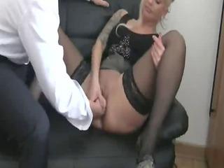 fingering my german feminine slut boss till she