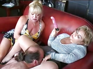 two matures vibrator and dominate man