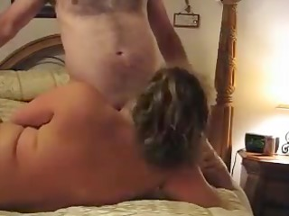 aged pair, blowing, banging and spraying