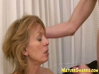older  hirsute blows giant young cock