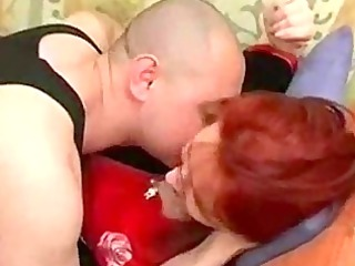 russian cougar babe and man