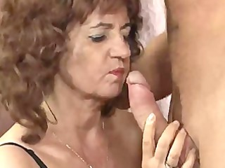 awesome old large breast inside nylons