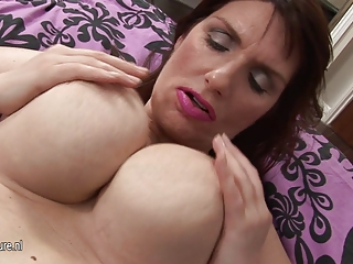 hot large brested young lady masturbate one