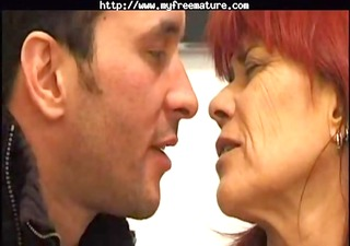 redhead in stockings fucks older aged porn granny