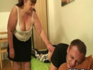 he had gangbanged by his wifes plump milf