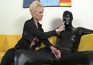 dominant granny dominates her villein