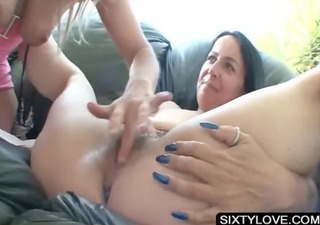 lesbian oral sex sex with excited aged slut