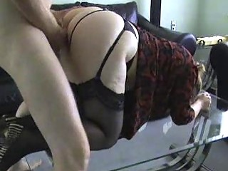 lady ho inside pantyhose takes bent over and