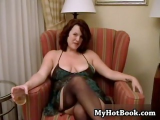 redheaded inexperienced annabelle is a plump
