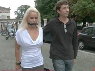 sweet german woman bound and pierced inside al