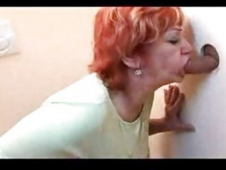 redhead older  drilled through gloryhole
