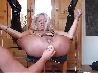 elderly woman really uneasy  bondage
