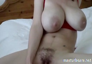 home solo busty claudia in red pantyhose
