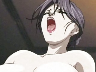 anime woman likes a dick and a device
