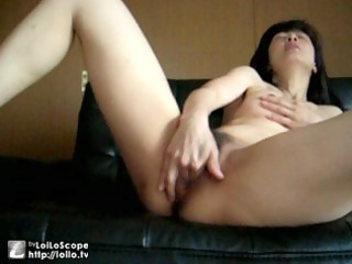 my cougar japanese bitch masturbates -part 1