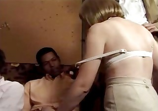 vintage porn with threesome euro-babes getting