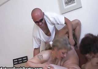group of sexually excited old wife doxies getting