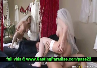 kayla paige golden-haired bride fucking and