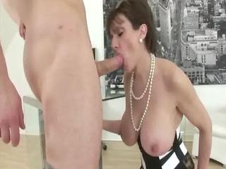 older stocking fetish slut cock sucking bang