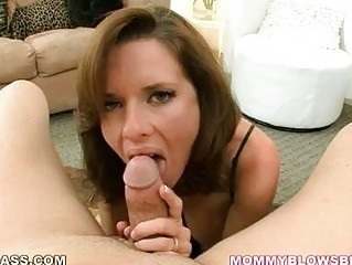 cougar brunette with big tits into hot lingerie