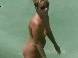 naked sea coast mature voyeur