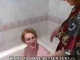 redhead mature babe fuck into shower part1