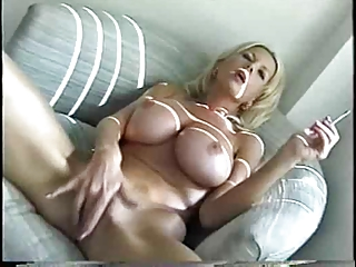 sweet albino mature babe smoking
